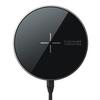 Nillkin - 全新MagSafe磁吸無線充電器 5毫米超薄鏡面 對應iPhone12系列7.5W快充 安桌系統10W快充 (黑色)