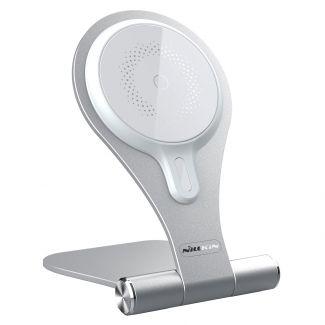 Nillkin - 摺疊式鋁合金磁吸無線快速充電支架 iPhone MagSafe手機專用 智航系列 (銀色)