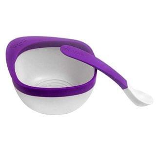 Zoli - Mash 嬰兒研磨餵食碗連匙套裝 (紫色)