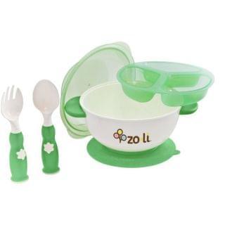 Zoli - Stuck 吸盤碗套裝 (綠色)