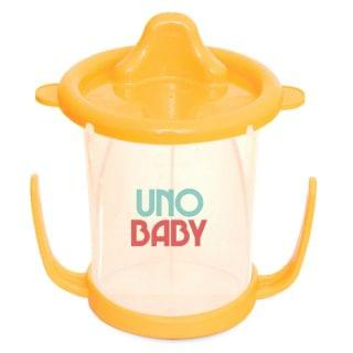 Uno Baby - 雙耳學習杯連蓋 (200ml)(橙色)