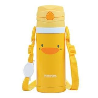 黃色小鴨 - 不鏽鋼真空吸管隨行杯 (420ml)