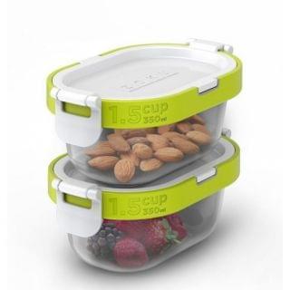 ZOKU - Neat Stack 可嵌式食物盒飯盒套裝 (4件裝) (微波爐可用)