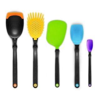 Dreamfarm - Set of the Best 基本廚房工具套裝(包括湯勺、意粉勺、薄切鑊鏟、一茶匙刮匙、刮匙)