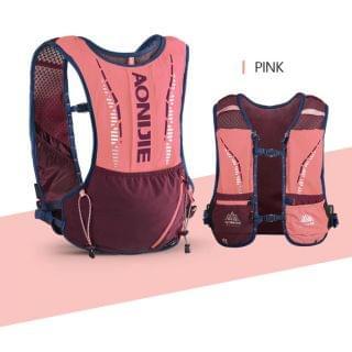 AONIJIE 奧尼捷 - 5L 超輕戶外運動背包 (珊瑚粉色)【贈送2個420毫升軟水樽】