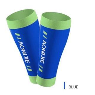 AONIJIE 奧尼捷 - 高彈力運動小腿護套 (藍色中碼)