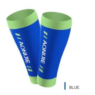 AONIJIE 奧尼捷 - 高彈力運動小腿護套 (藍色大碼)