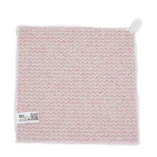 索水店 - 超柔花式紗毛巾 (35 x 35cm) (紅色) (波浪紋)