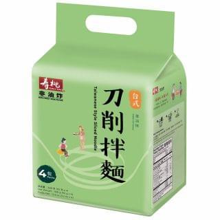 壽桃 - 刀削拌麵蔥油味 (4包入)