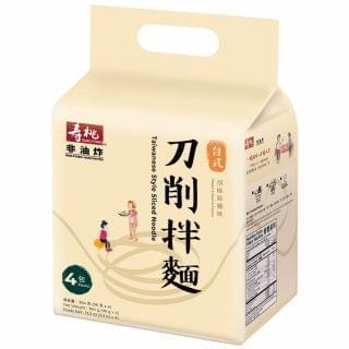 壽桃 - 刀削拌麵胡椒麻醬味 (4包入)