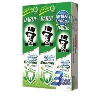 黑人 - 黑人雙重薄荷強健琺瑯質牙膏 (孖裝) (200g X 2 + 100g)