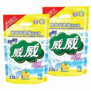 威威 - 除菌超濃縮洗衣粉 (2.25kg x 2件)