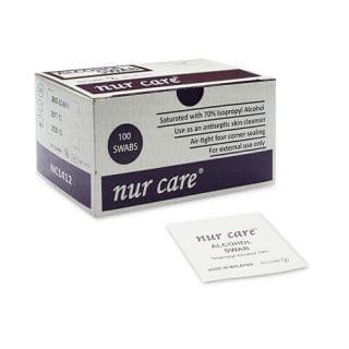 Nur Care - 酒精消毒巾 (100片裝) (馬來西亞製造)