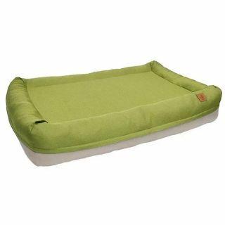 LifeApp - 寵物緩壓睡墊 - 愛兒堡 M (芥末綠) (W85xD60xH20cm)