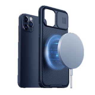 "Nillkin - iPhone 12/12 Pro 6.1"" MagSafe內置磁吸功能鏡頭滑蓋保護/四角氣囊防摔/防滑手機保護殼黑鏡Pro系列 (黑色)"