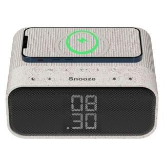 Sound Crush - ZTATION無線充電藍牙鬧鐘 (FM收音機) (小麥色)