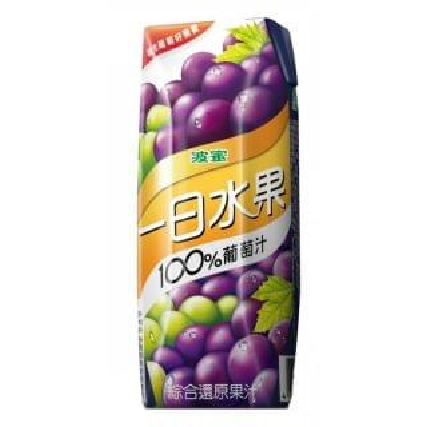 波蜜 - 一日水果100%葡萄汁 (250ml x 6包)