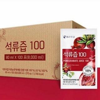 Boto - 100% 紅石榴汁 (80ml x 100包)
