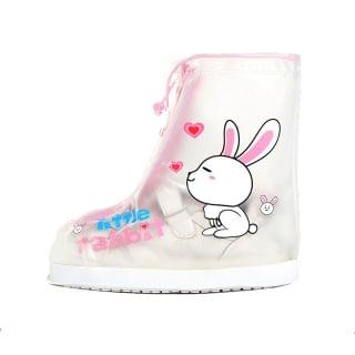 兒童可擕式束口PVC水鞋套 (兔子)