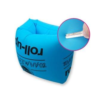 DELICATE - PVC充氣手臂浮圈游泳水袖 (藍色)