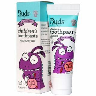 芽芽 - 有機幼童含木糖醇牙膏 (1-3歲) (黑加侖子味) (50ml)