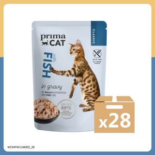 PRIMACAT - 經典無穀物鮮魚主食濕糧 (肉汁系列)  (85g x 28件)
