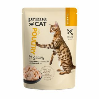 PRIMACAT - 經典無穀物家禽主食濕糧 (肉汁系列)  (85g x 28件)