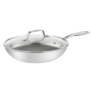 特福 - 抗磨不鏽鋼系列28CM蜂巢式炒鍋 (加蓋)