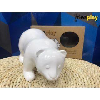 Ideaplay - 白板漆動物公仔 小熊峰峰 (白)