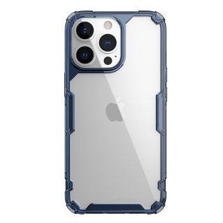 "Nillkin - iPhone 13 Pro Max 6.7"" 四角氣囊防滑TPU 亞克力背板防摔手機保護殼本色Pro系列 (藍色)"