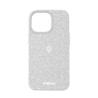 "MOMAX - iPhone 13 Pro 6.1"" Fusion Magsafe 布面保護殼 (淺灰色)"