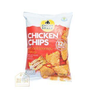 Chicky Shake - 低卡零脂肪雞胸肉脆片 (燒魷魚味) (14g)