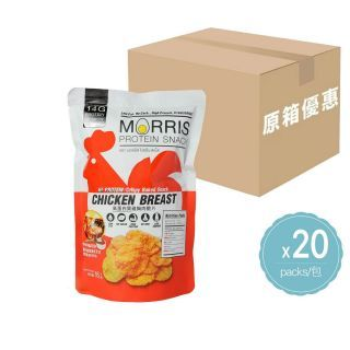Morris - (原箱優惠) 零碳水 低脂烤雞胸肉脆片 (燒烤味) (16g x 20包)