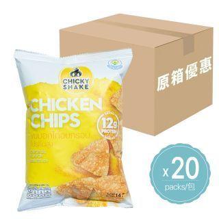 Chicky Shake - (原箱優惠)零脂肪雞胸肉脆片 (原味) (14g x 20包)