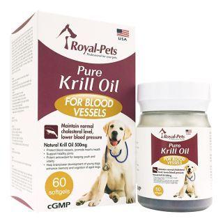Royal-Pets - 純正磷蝦油丸 (60粒軟膠囊)