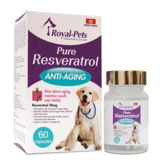 Royal-Pets - 純正白藜蘆醇 (60粒膠囊)